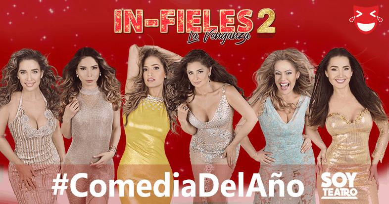 #ComediaDelAño: Así festeja el elenco de 'In-fieles 2'